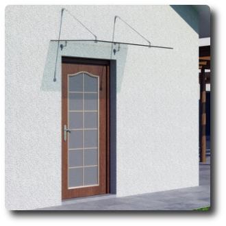 glasvordach 120x90 150x90 cm vordach haust r t rvordach edelstahl klarglas vsg ebay. Black Bedroom Furniture Sets. Home Design Ideas